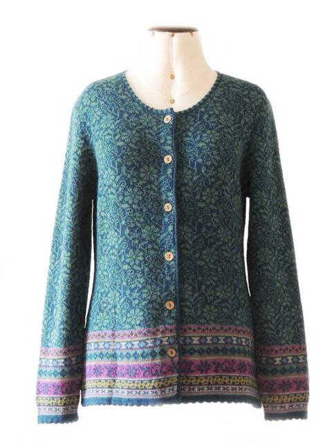 Vest Susan turquoise-blauw