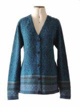 Vest Naomie alpaca blauw-multi