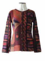 Vest intarsia alpaca multi-kleur