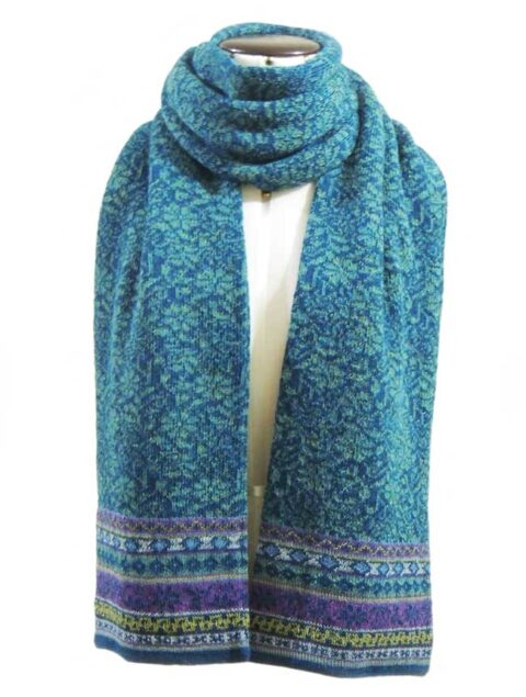 Sjaal Susan turquoise-blauw