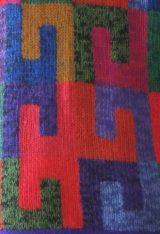 Alpaca Intarsia vest grafisch patroon rood-multi.